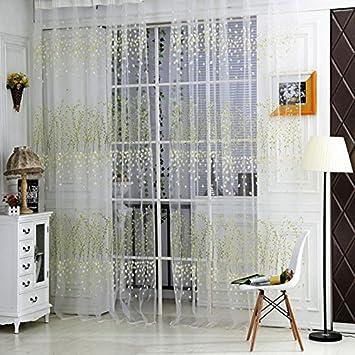 Amazon De Chinatera Duenn Roman Fenster Gardine Fuer Wohnzimmer