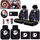 new 9 pieces disney nightmare before christmas jack skellington graveyard car auto. Black Bedroom Furniture Sets. Home Design Ideas