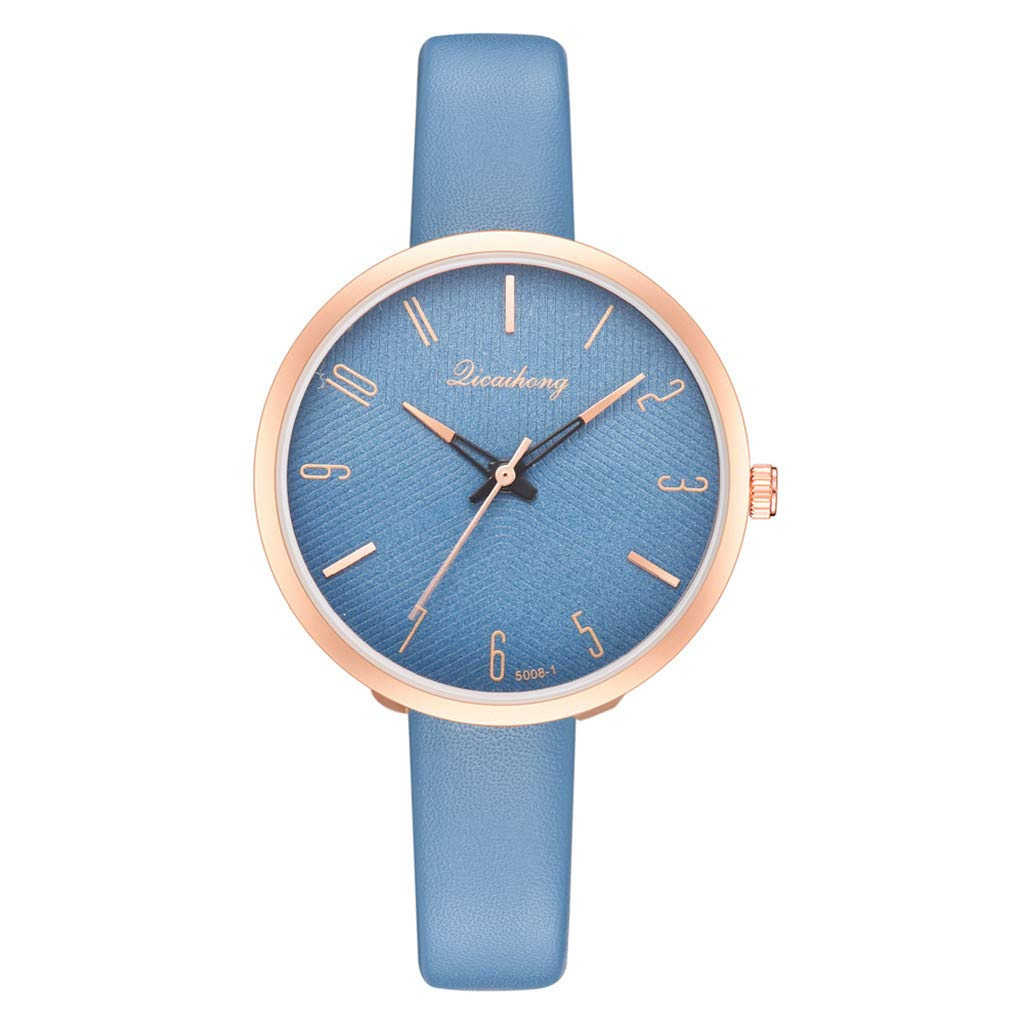 Toponly Women Fashion Temperament Watch Classic Casual Quartz Analog Leather Belt Wrist Watches
