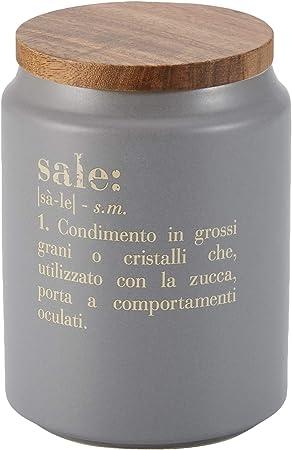 di/ámetro 10,5 x altura 15 cm gris Tarro de sal con tapa Villa dEste Home Tivoli Victionary