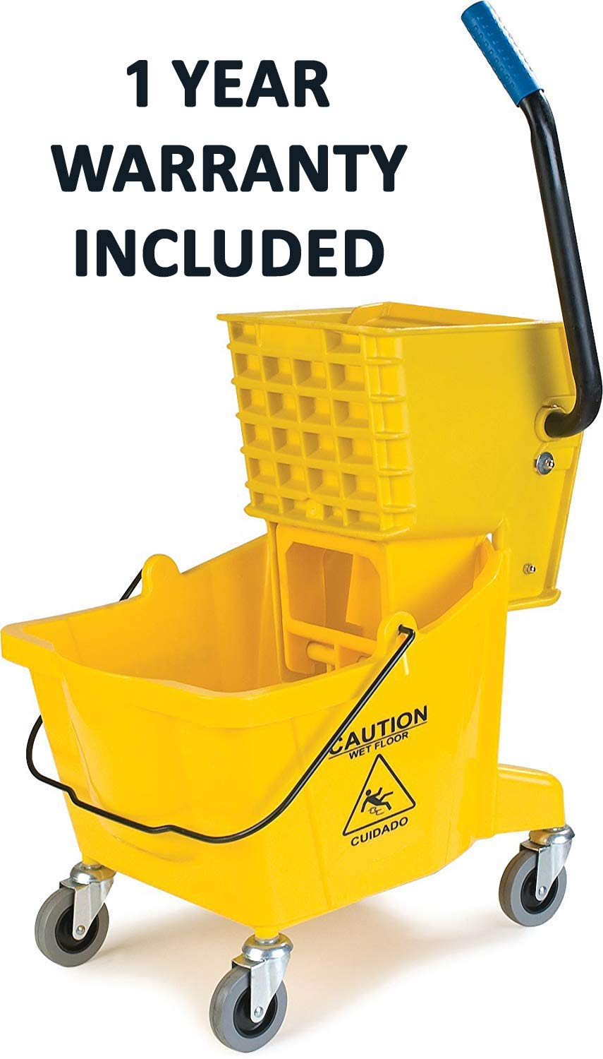 Simpli-Magic 79139 Commercial Mop Bucket with Side Press Wringer, Industrial