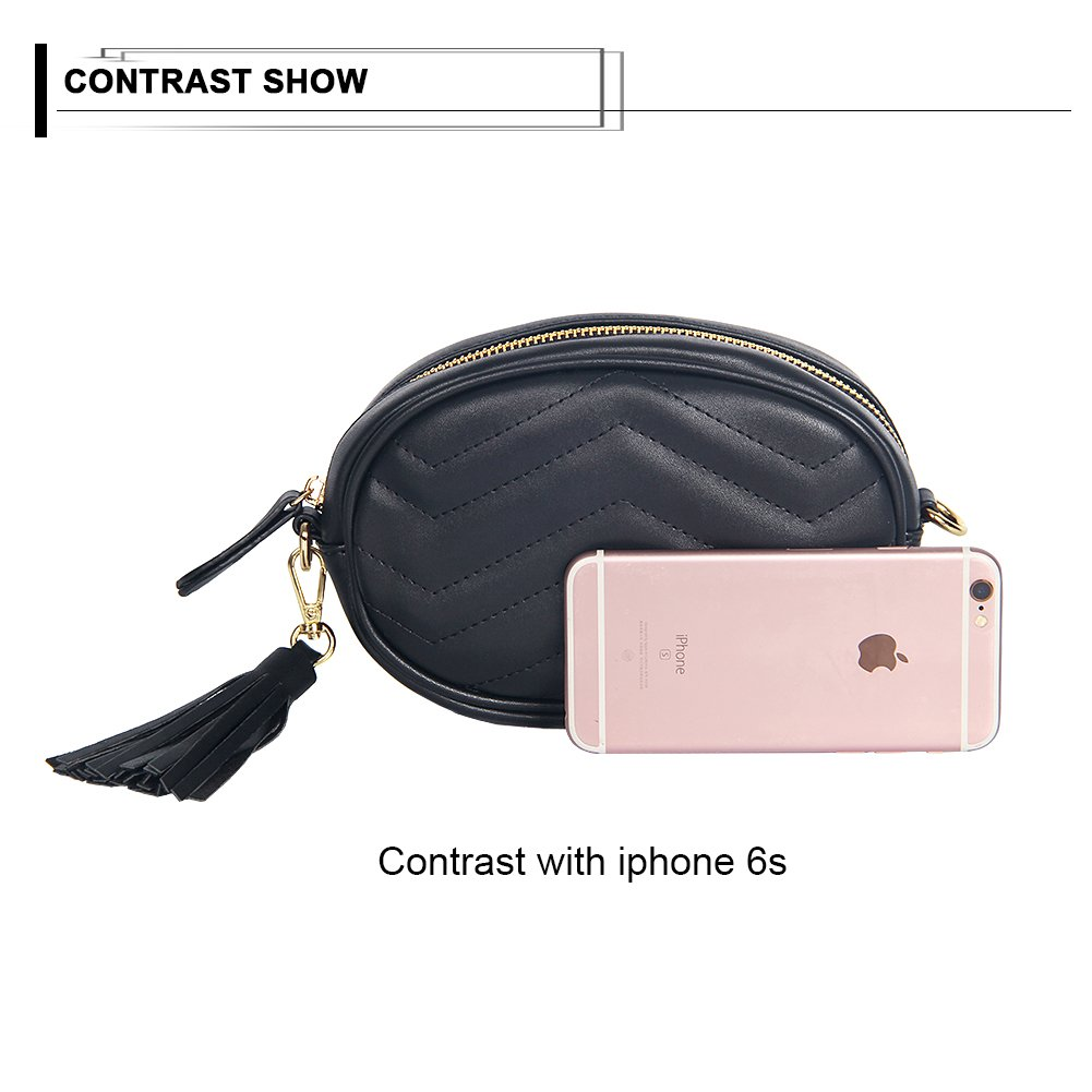 Kukoo Women Leather Waist Belt Bag Elegant Fanny pack Cell Phone Money Pouch by Kukoo (Image #7)