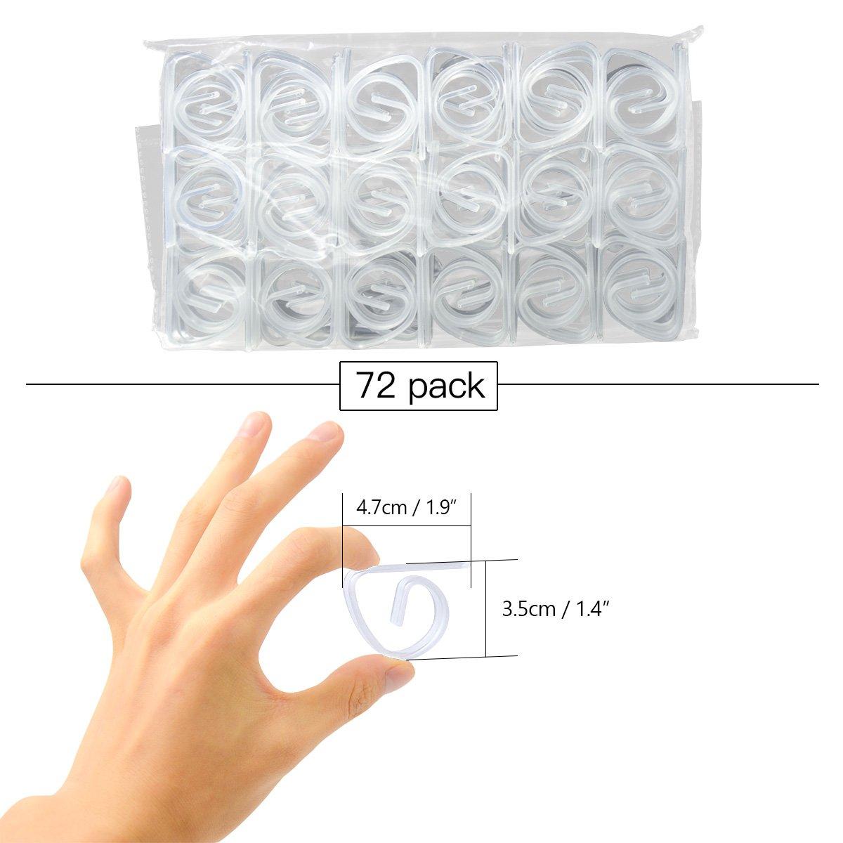 FEIGO Lot DE 30 Pince à Nappe Transparent, Clip de Nappe en Plastique pour Maison, Restaurant, Pique-Nique et Plus (30) 100