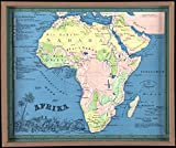 Historic Map | 1865 Afrika | Antique Vintage Reproduction
