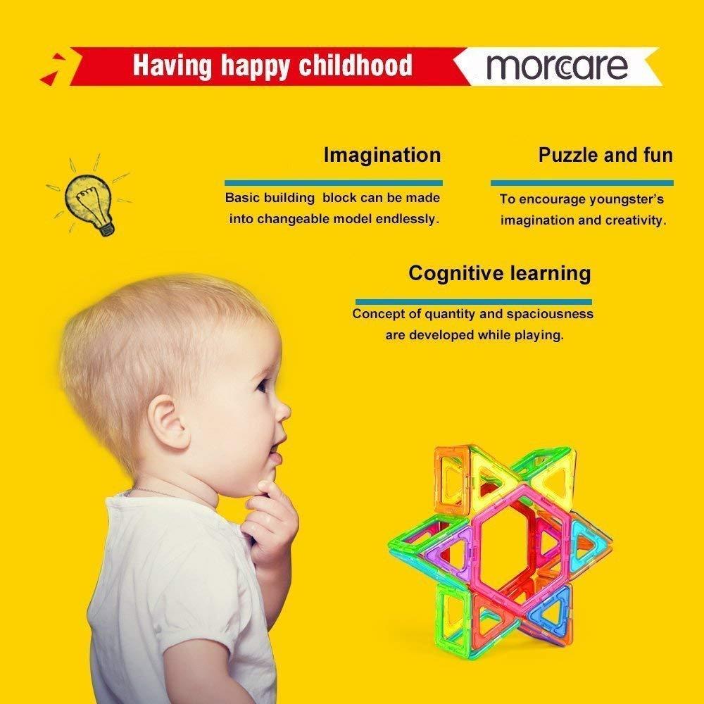 Morcare 76pcs Magnetic Blocks Magnetic Building Blocks Toys for Boys Girls, Magnet Tiles Molding Kits for Kids by Morcare (Image #5)