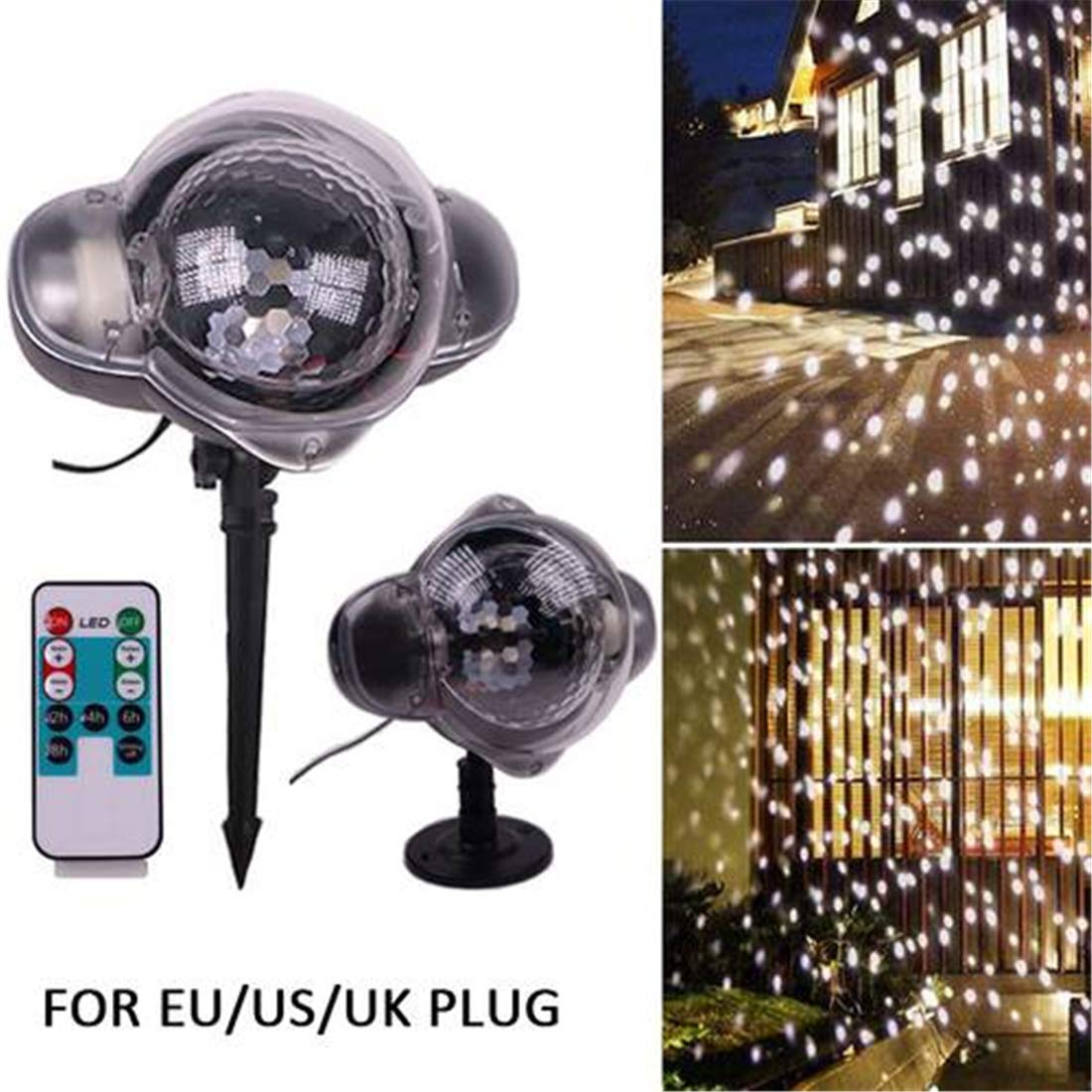 Yeying123 LED Copo De Nieve Proyector Navidad Movimiento ...
