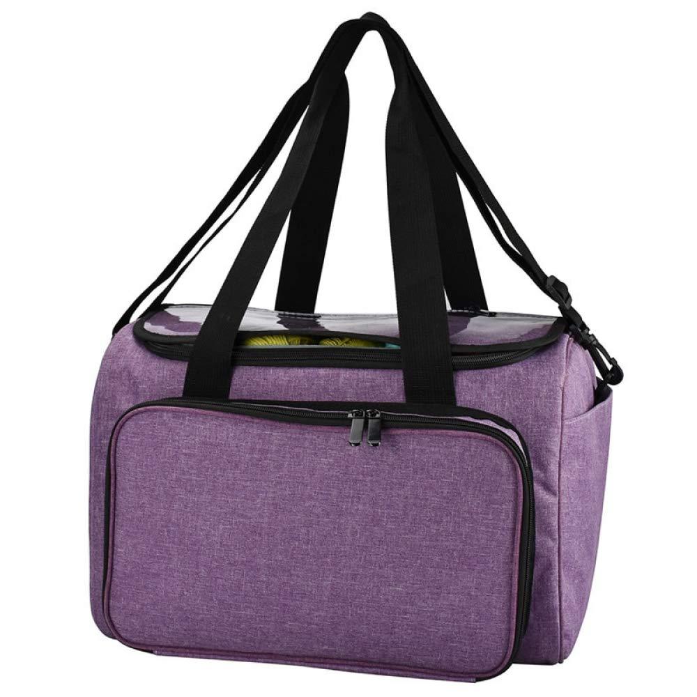 Twins LLC - Big Capacity Yarn Tote Storage Bag Household Portable Knitting Bag Wool Crochet Hooks Knitting Needles Sewing Set Organizer Bag