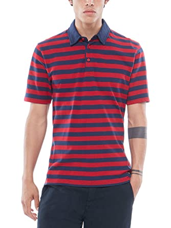 4d49acfb8d T-Shirt Men Vans Chima Striped Polo  Amazon.co.uk  Clothing