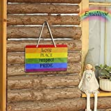 Welcome Sign for Front Door - Gay Pride Love
