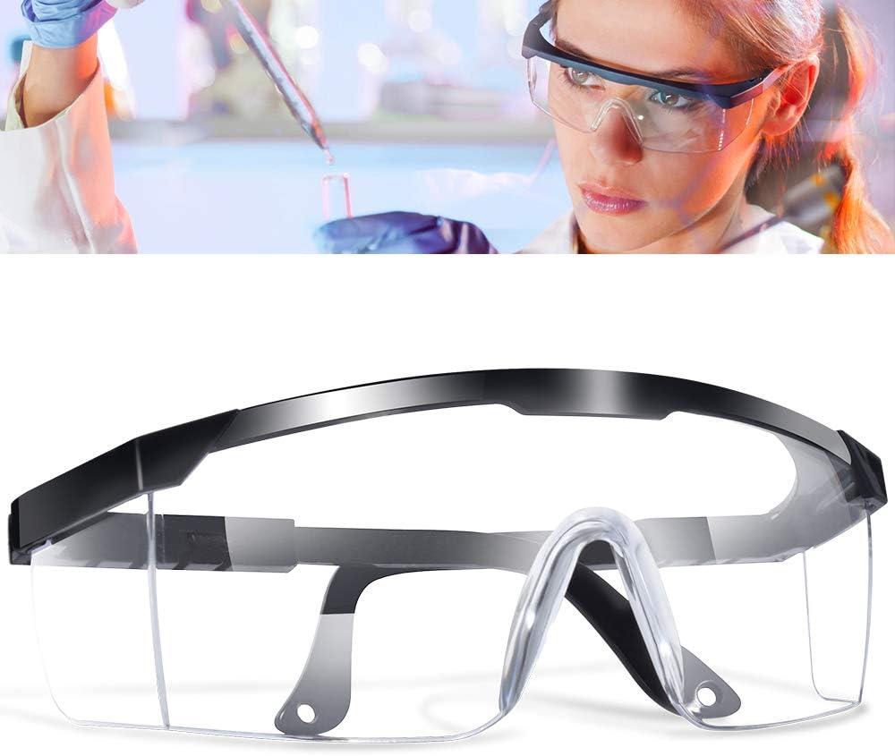 Gafas Proteccion, LETOUR Gafas de Seguridad Protección UV Para los ojos, Lentes Transparentes Antivaho Antiinfección, Protección Contra Salpicaduras de 360 Grados