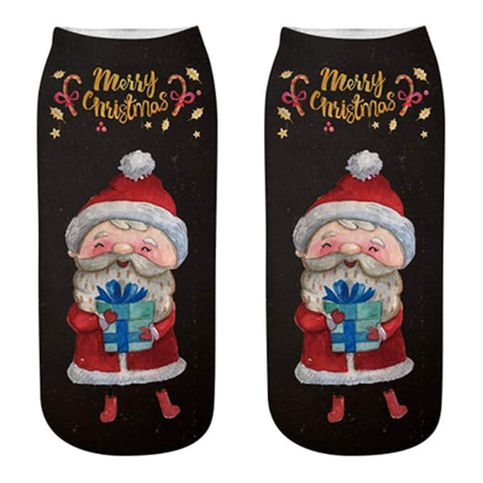 Calcetines Mujer Divertidos Invierno Antideslizantes CóModas Zapatillas De AlgodóN De Navidad Zapatillas Calcetines Cortos Tobillo (