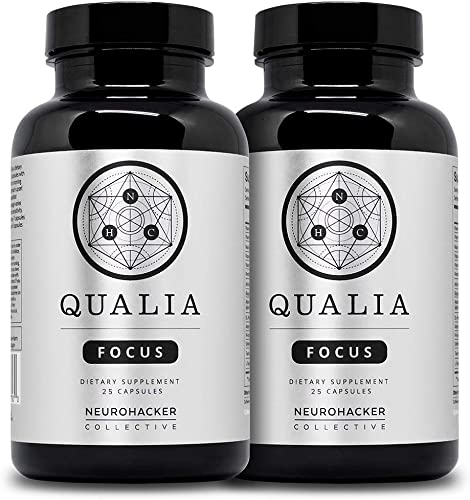 Qualia Focus Nootropics by Neurohacker Collective 2 Pack The Brain Supplement for Focus, Supporting Memory, Mental Clarity, Energy, Reasoning and Concentration with Ginkgo biloba, Bacopa monnieri