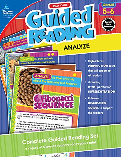 Carson-Dellosa Ready to Go Guided Reading: Analyze Resource Book, Grades 5-6 ()