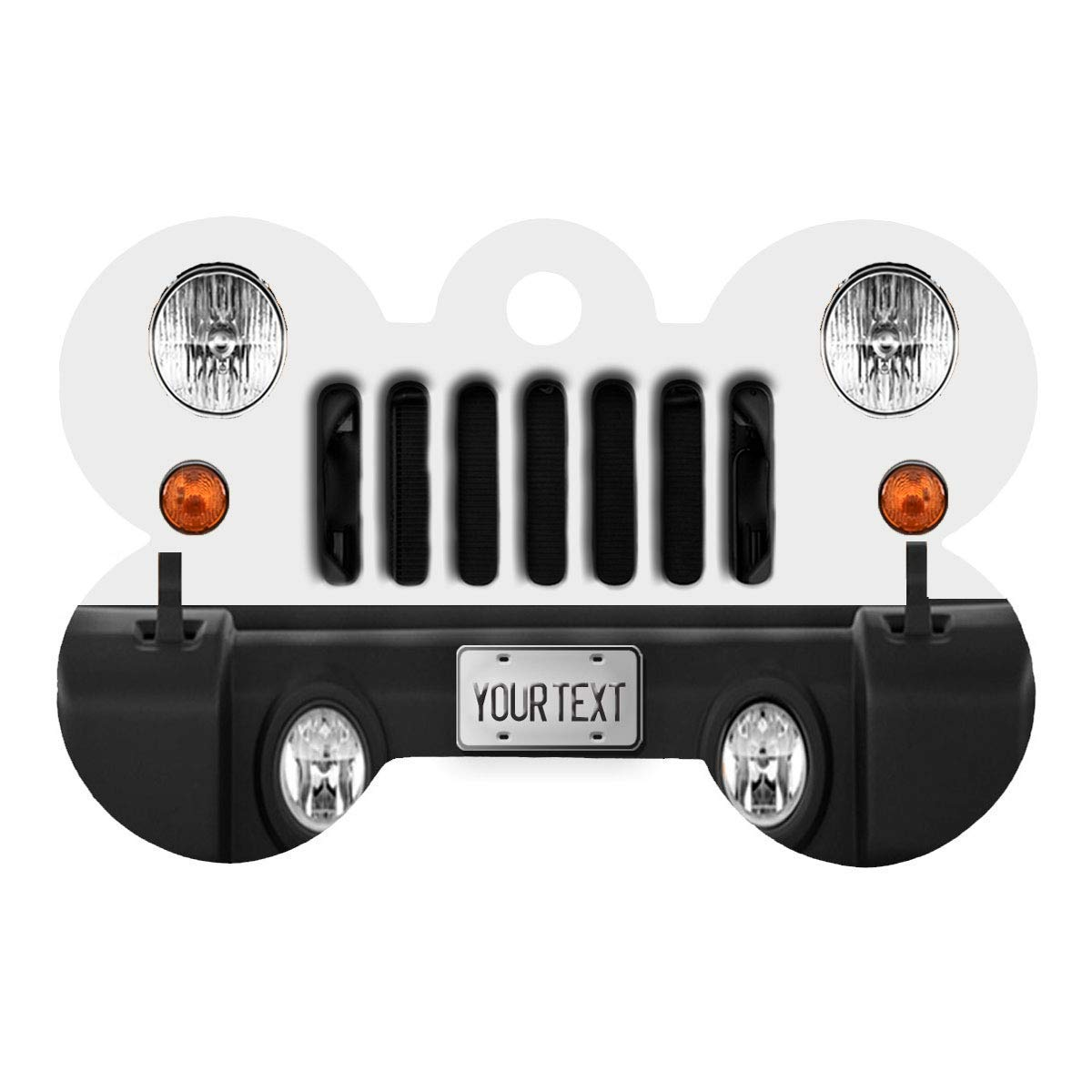 BRGiftShop Personalize Your Own SUV Bumper Car Grill Pink License Plate Bone Shaped Metal Pet ID Tag with Contact Information