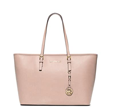 70702674f2ce Image Unavailable. Image not available for. Color  Michael Kors Ballet Jet  Set Travel Saffiano Leather Top Zip Tote