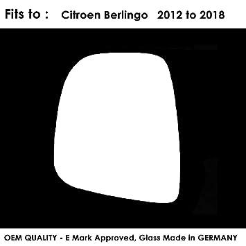 CITROEN BERLINGO 2008/>2012 Driver Side//Right  Wing Mirror Glass Silver Convex