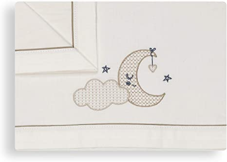 Sabanas 100% Algodón CUNA 60X120 Nube Luna Beige - (bajera+ ...