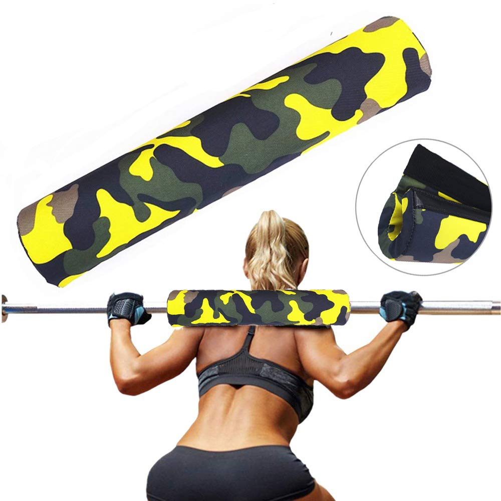 Weight Lifting Fitness Barbell Squat Pad Thick Heavy Duty Foam Support Neck Shoulder Protective Pad Personality Gym Home Fitness Accessories (B)