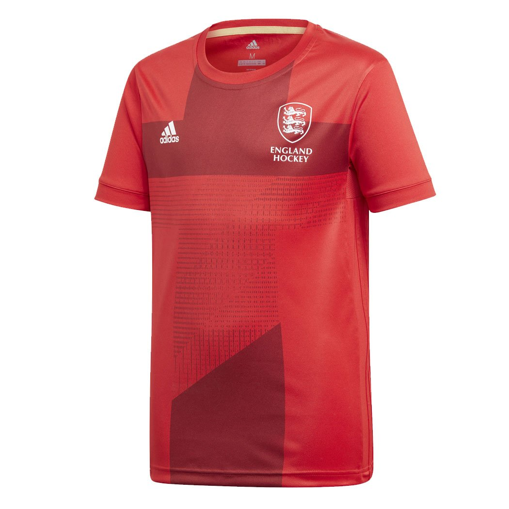 adidas EH England Hockey World Cup 2018 Junior Kids Home Jersey Tee Shirt