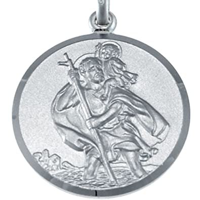 Large mens heavy sterling silver st christopher pendant necklace large mens heavy sterling silver st christopher pendant necklace with 20quot chain and jewellery gift aloadofball Gallery