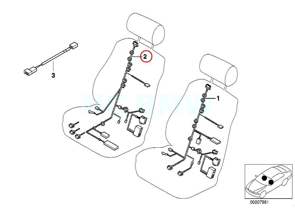 Amazon Com Bmw Genuine Passengers Side Wiring Set Seat Automotive