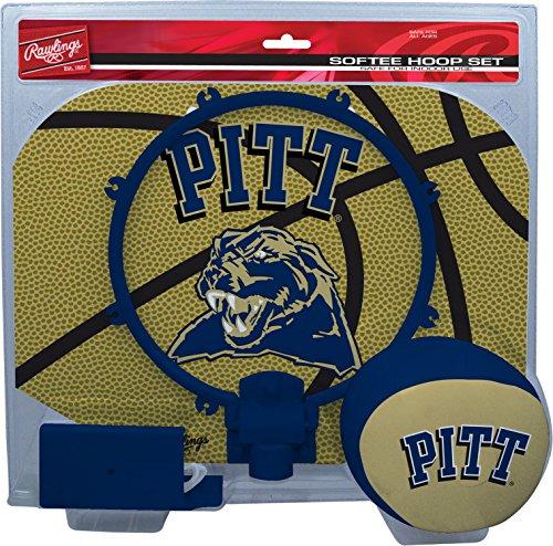 NCAA Pittsburgh Panthers Kids Slam Dunk Hoop Set, Blue, Small