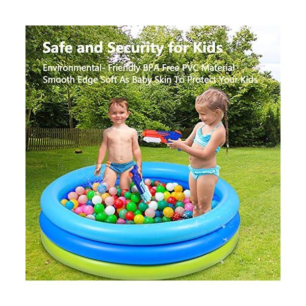 Joyjoz Piscina Gonfiabile per Bambini 120cm * 30cm Piscina per Bambini Giochi Estivi Fmiglia Giardino 2 spesavip
