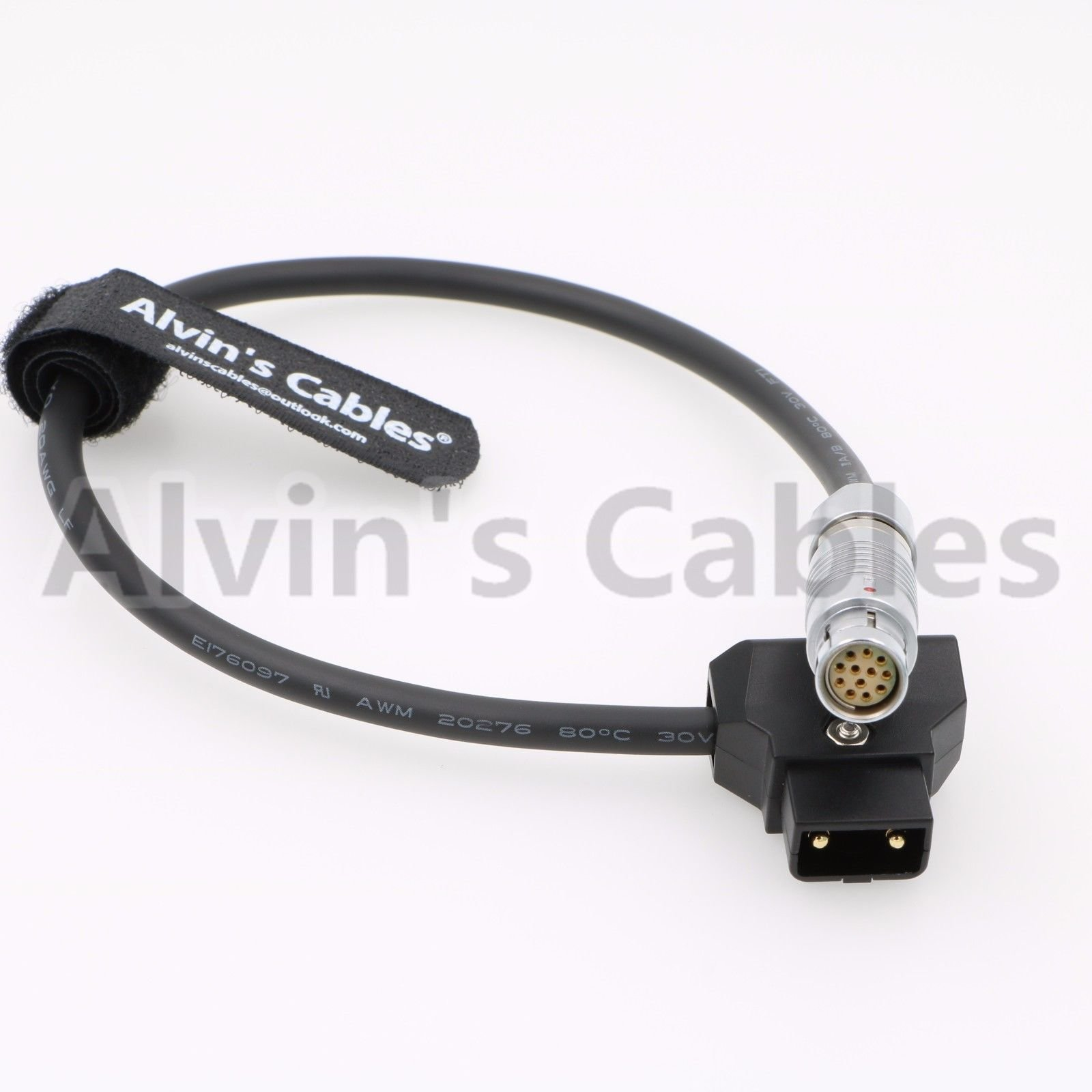 Alvin's Cables Phantom VEO Camera Power Cable Fischer 12 Pin Female to D Tap