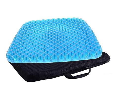 Terapia de confort ortopédico asiento de gel cojín ergonómico memoria espuma Coccyx cojín inferior espalda tailbone