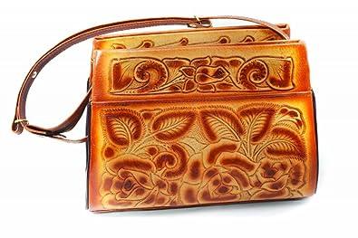 b623ef97d48e Leathertown USA Women's Tooled Leather Handbag, Genuine Leather ...