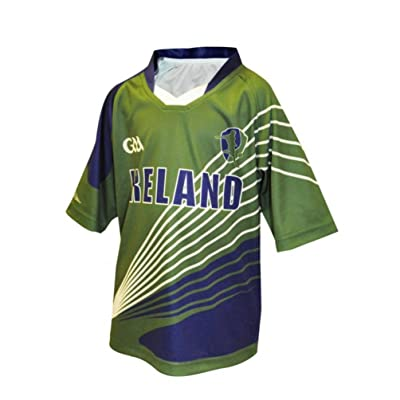 Croker Kids Official GAA Gaelic Football Jersey - Green Sublimated Polyester Athletic Performance Shirt