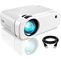 """Mini Projector, ELEPHAS 4500 Lumens Portable Projector Max 180"""" Display 50000 Hours Lamp Life LED Video Projector…"""