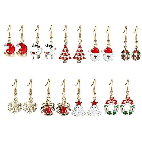 Weihnachten Weihnachtsmann Ohrringe Ohrschmuck Anhänger  Geschenk Ornamente DE
