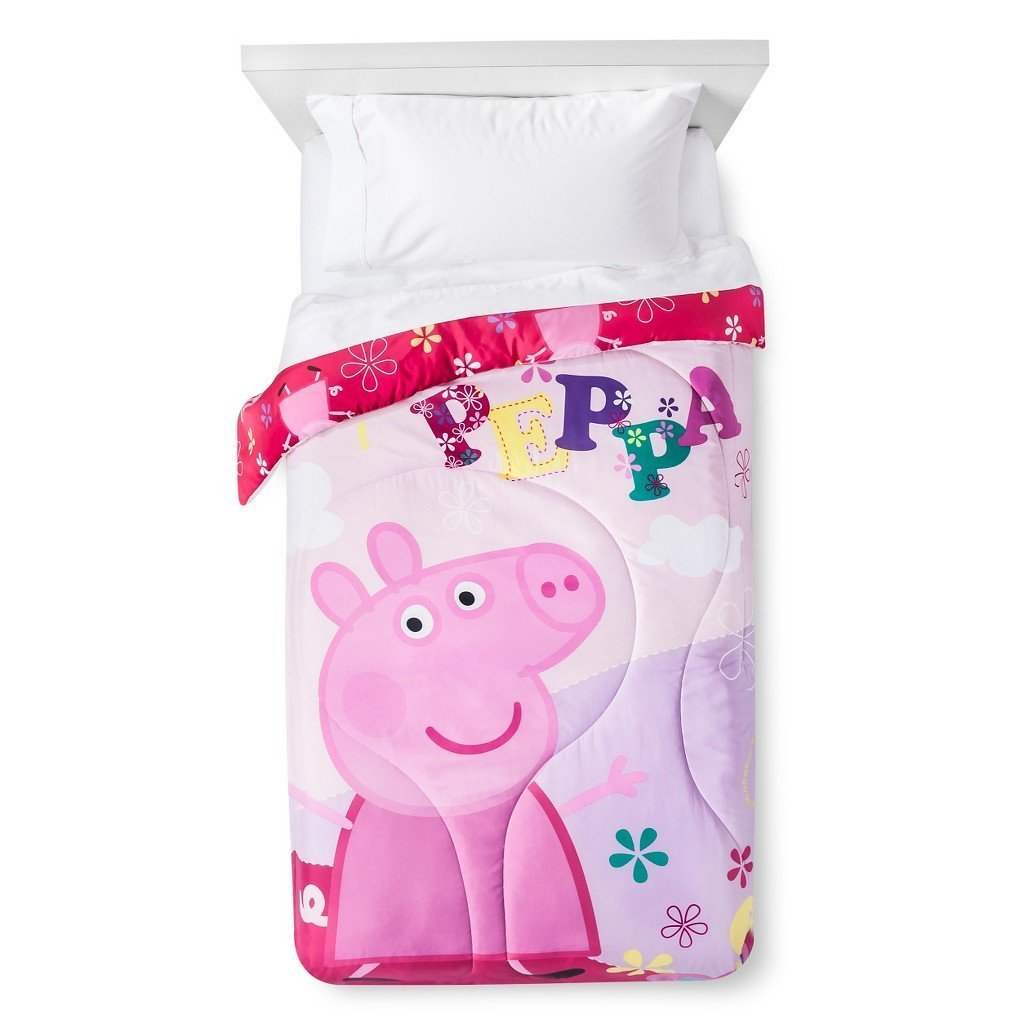 Peppa Pig Twin Sized Reversible Comforter Franco