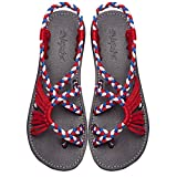 Summer Braided Rope Flat Sandals Casual Vacation Beach Shoes For Women Teenagers Girls By Everelax Multicolor 8B(M)US