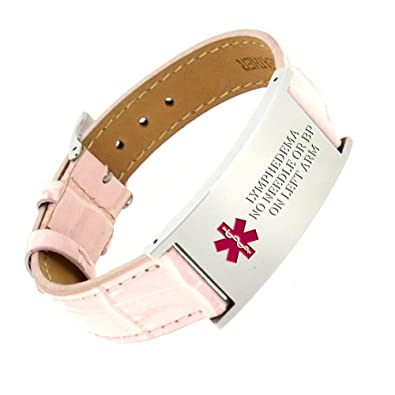 id Breast cancer bracelet medical