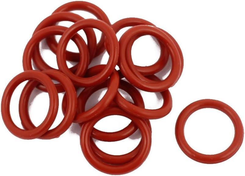 25pcs 7mm x 1,9mm Hitzebeständige Silikon O Ring Öldichtungsring Dichtung Rot