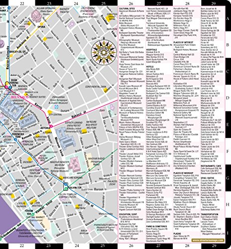 Streetwise Budapest Map Laminated City Center Street Map of