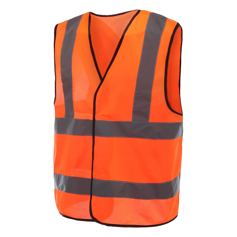 Gilet Jaune R/éfl/échissant Haute Visibilit/é,EN20471 Conforme /à la Norme XL, Orange Fluo Moto Auto Plusieurs Couleurs Gilet de Securit/é R/éfl/échissant