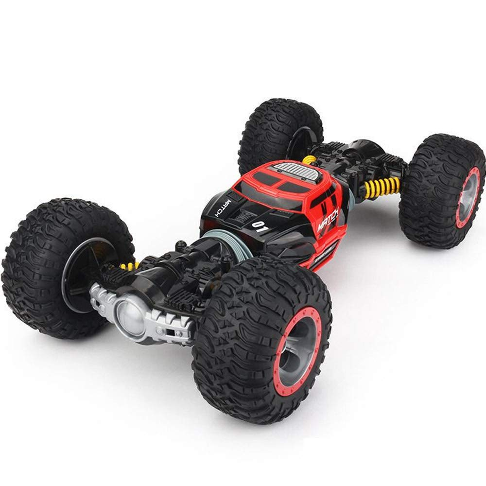 Pinjeer リモートコントロールカー4WDトラックスケール両面2.4GHzワンキー変換全地形車両クライミング車教育用おもちゃ5 + (Color : Red, サイズ : 1-Battery) B07QYR1TV5 Red 1-Battery