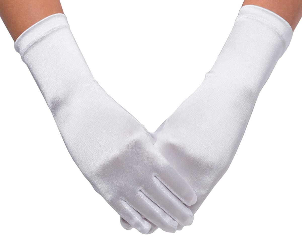 OLIVIA KOO 6bl Satin Communion Girl Gloves