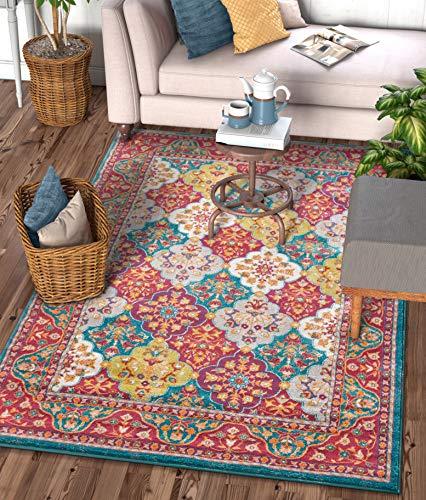 - Well Woven Diana Blue Trellis Multi-Color Modern Area Rug 8x11 (7'10