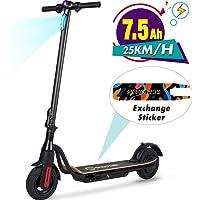 M MEGAWHEELS EléctricoScooter, Patinete Scooter Eléctrico Inteligente de Alta Potencia de 250 W, Batería de Largo Alcance de 12 Millas, Carga hasta 265 LB Máx …