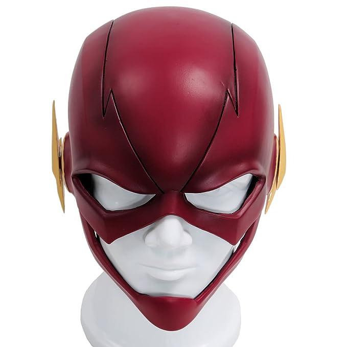Xcoser The Flash Mask Cosplay Helmet Red PVC Full Head Streak Barry Halloween