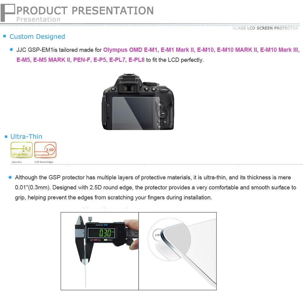 LCD Display Schutzfolie 2x für Olympus OM-D E-M1 E-M10 Pen E-P5 Displayschutz