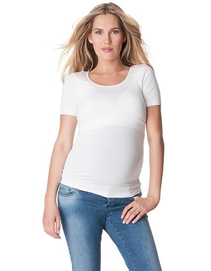 60467195913e8 Seraphine Laina Bamboo Maternity Nursing Tee - Short Sleeve at Amazon Women's  Clothing store: