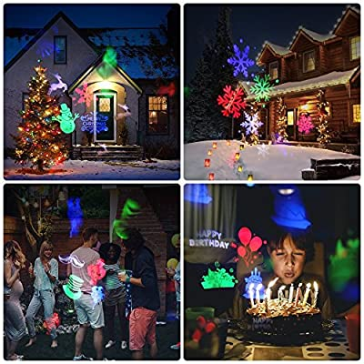 Christmas Led Projector Lights, KOOLSEN Light 15 Pattern, Range 40ft Projection Distance Holiday Light Projector, IP65 Waterproof Landscape Garden LED Lights for Various Themes Halloween, Christmas, e