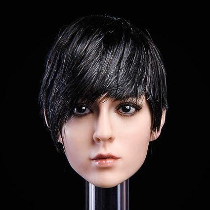 KIMI TOYS 1//6 scale Female Head Sculpt Short Hair A For 12/'/' Phicen Figure Doll