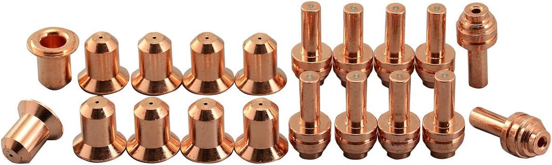 176655 Plasma Electrode 176656 25A Plasma Tip Fit Miller ICE-25C Plasma Cutter Torch 20pcs