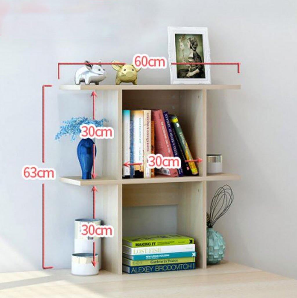 壁の本棚 シンプルなデスクトップシェルフテーブルシェルフ上のクリエイティブブックシェルフシンプルな近代的なデスクIncorporated小さな本棚 花の棚 (サイズ さいず : L60cm*h63cm) B07DRZR5WT  L60cm*h63cm